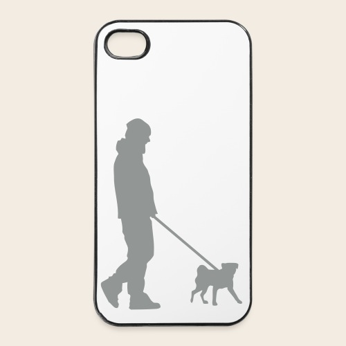 Mops Phone Case Spaziergang - iPhone 4/4s Hard Case