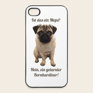 Mops Phone Case Getarnter Bernhardiner - iPhone 4/4s Hard Case
