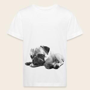 Mops entspannt Kinder-Shirt - Kinder Bio-T-Shirt