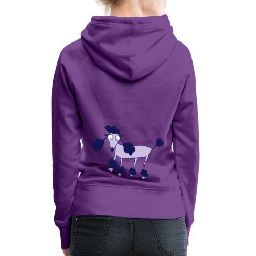 Felpa Poodle - Felpa con cappuccio premium da donna