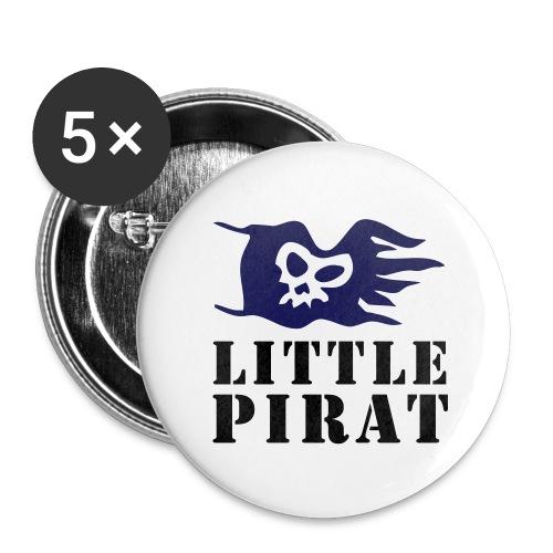 Badge Little Pirat - Lot de 5 moyens badges (32 mm)