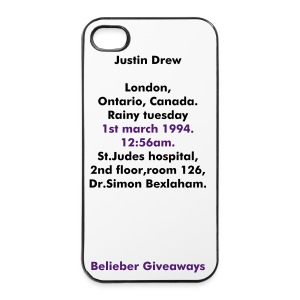 Justin Drew London, Ontario, Canada, Rainy Tuesday, 1st March 1994, 12:56AM. St. Judes hospital, 2nd floor, room 126, Dr. Simon Bexlaham. - iPhone 4/4s Hard Case
