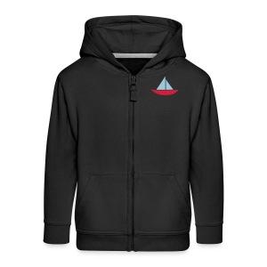 Sail Boat Hoodie - Kids' Premium Zip Hoodie