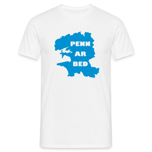 penn ar bed - Blanc/ciel - T-shirt Homme