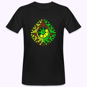 Hunab Ku DNA Tree - UV Active Organic - Mannen Bio-T-shirt