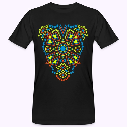 Tribal Sun UV-Active Front Organic - Men's Organic T-Shirt