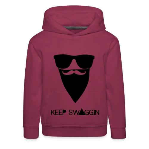 Sweater Kids met Capuchon - Keep Swaggin - Kinderen trui Premium met capuchon