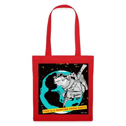 tas met kikker - Tas van stof