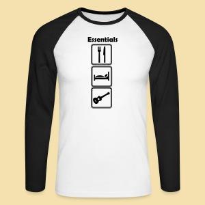 ShirtEssentials - Männer Baseballshirt langarm