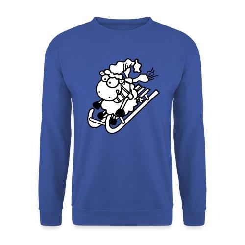 Weihnachts Schaf - Schlitten, Schal, Mütze - Pullover - Männer Pullover