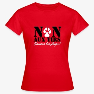 Non aux tirs de loups - T-shirt Femme
