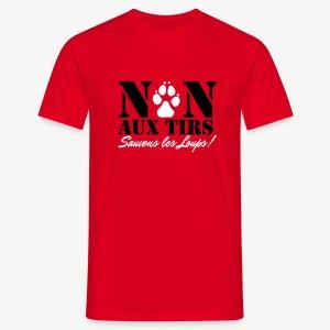 Non aux tirs de loups - T-shirt Homme