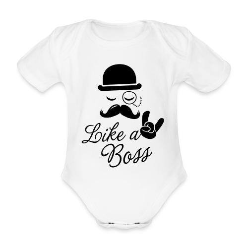 Baby Rompertje - Wit - Baby bio-rompertje met korte mouwen