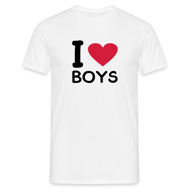 White I love Boys Men's Tees