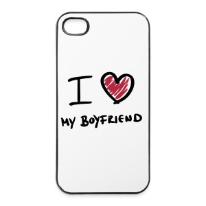 iPhone cover I love my boyfriend - iPhone 4/4s hard case