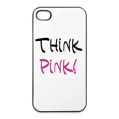 I-phone Case Think-Pink - iPhone 4/4s Hard Case