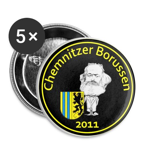 Buttons Schwarz - Buttons klein 25 mm