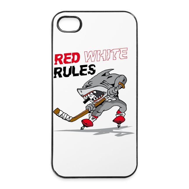 "Red White Rules i Phone Case ""Hai"""