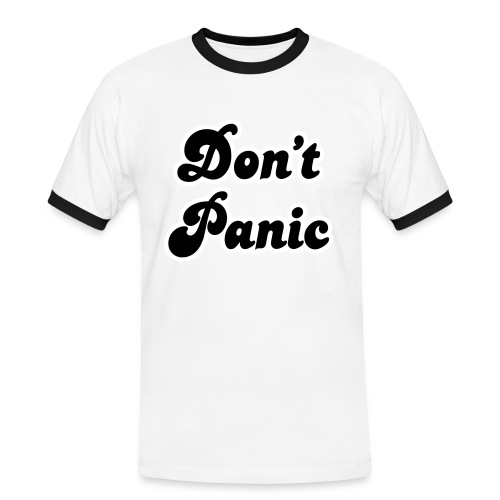 Don't Panic (velvet print) - Men's Ringer Shirt