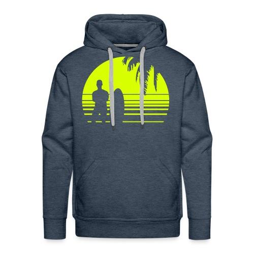 SUNSET SURFING - Männer Premium Hoodie