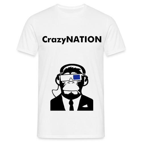 CrazyNATION crazy futuristic monkey - Mannen T-shirt