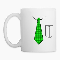 Green tie with pocket Bottles & Mugs