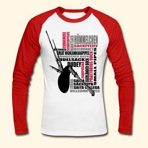 Männer Baseballshirt - Dudelsack - Männer Baseballshirt langarm