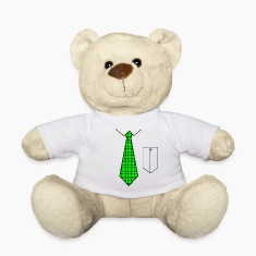 Green tie with pocket Teddies