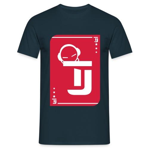Männer T-Shirt - T-Jirt in Navy Druck: Rot/Weiß - Flexdruck