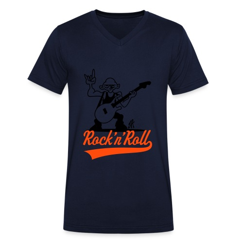 Mens Rock and Roll V Neck - Men's Organic V-Neck T-Shirt by Stanley & Stella
