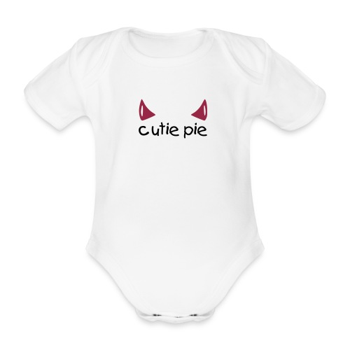 Devilish Cutie pie - kid - Organic Short-sleeved Baby Bodysuit