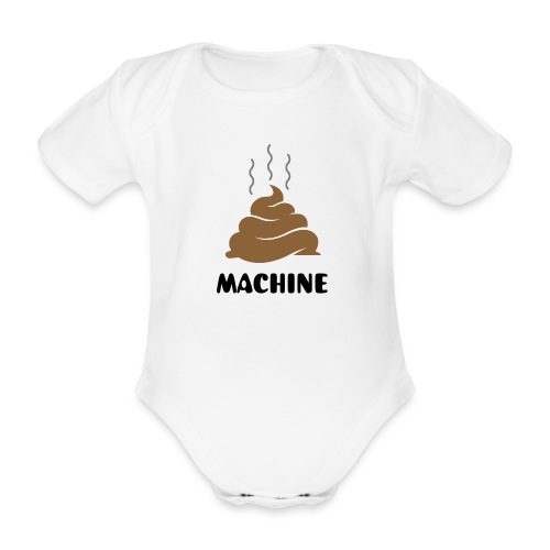 Poop Machine - Organic Short-sleeved Baby Bodysuit