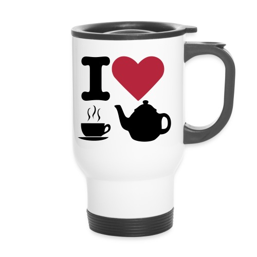 Thermo mok met I LOVE CUPS OF TEA - Thermo mok