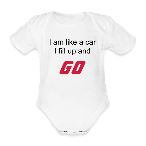 Baby Driver - Organic Short-sleeved Baby Bodysuit