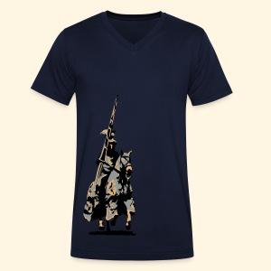 Männer TShirt - Ritter mit Lanze - Männer Bio-T-Shirt mit V-Ausschnitt von Stanley & Stella