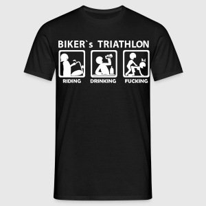 bikers triathlon eating drinking fucking T-Shirts  - Männer T-Shirt