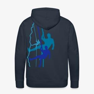 Drei Abseiler - dunkelblau (men) - Männer Premium Hoodie