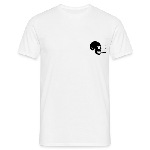 Smoking Skull T - Men's T-Shirt