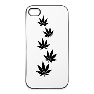 Leaf Line Black Iphone Case - iPhone 4/4s Hard Case