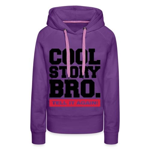 Sweater met print. - Vrouwen Premium hoodie