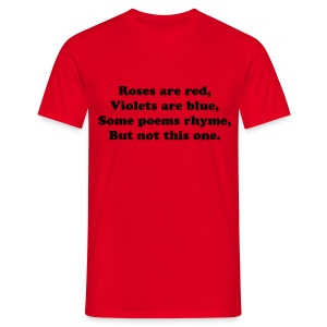 Roses Are Red Poem T-Shirt - Men's T-Shirt