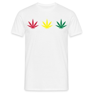 rasta leafs - Men's T-Shirt