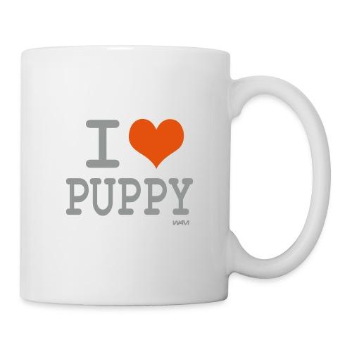i love puppy - Mug blanc