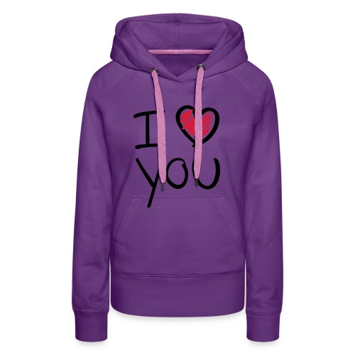 i 'hartje' you sweater - Vrouwen Premium hoodie