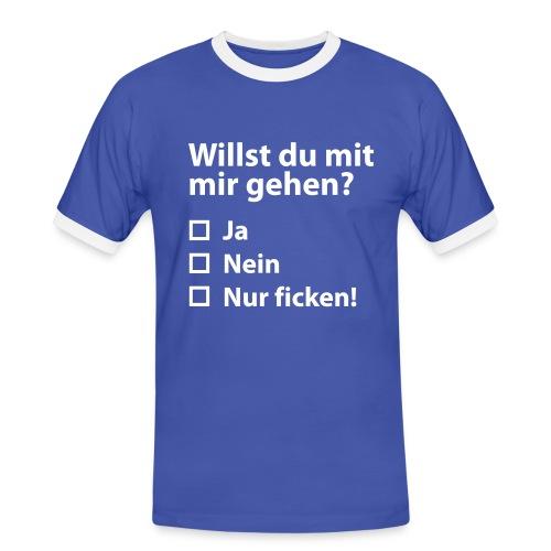 Willst du mit mir gehen? - Männer Kontrast-T-Shirt