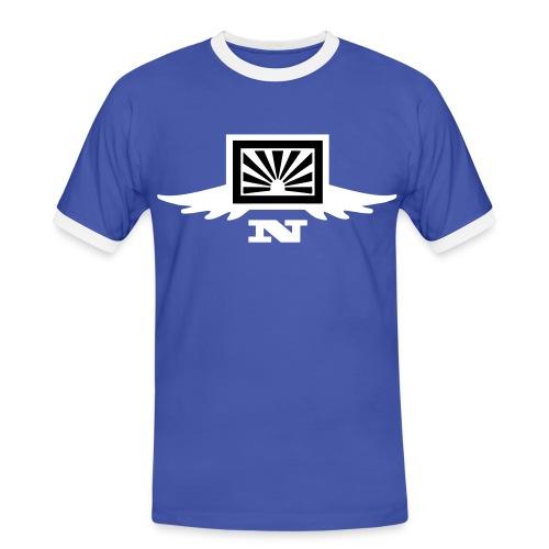 contrastee flock - Männer Kontrast-T-Shirt