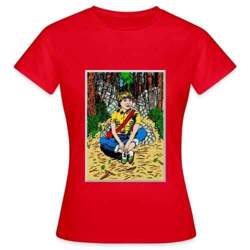vrouwen T-shirt met boself - Vrouwen T-shirt