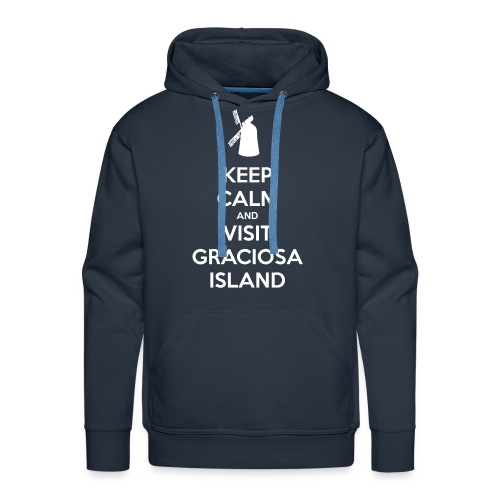 Keep Calm Graciosa Windmill - Men's Premium Hoodie