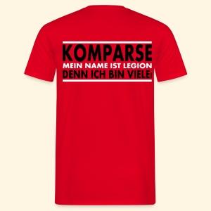 Männer T-Shirt - Komparse (Rückseite) - Männer T-Shirt