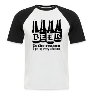 Känniääliö Miesten baseball-paita - Miesten lyhythihainen baseballpaita